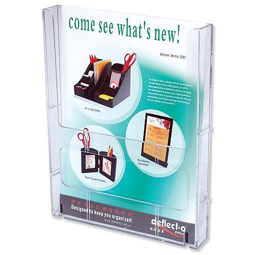 Deflecto Modular Literature Holder A4 Clear Lit-loc Wall Mountable