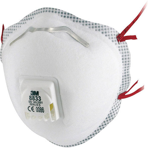 3M FFP3 R D Valved Cup-Shaped Respirator Pack 5