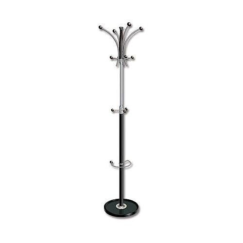 Coat Stand Classic Steel &Plastic Large Pegs Heavy Base