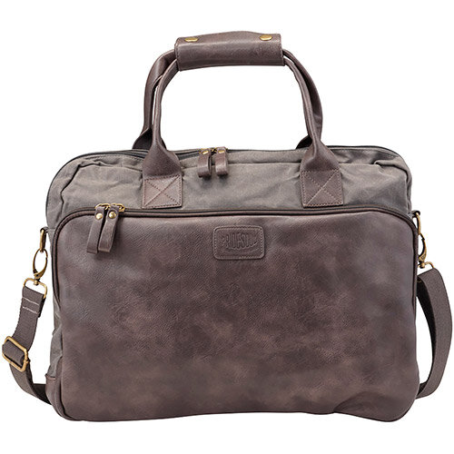 Pride and Soul Mystify 15inch Laptop Bag Grey/Brown Ref 47302