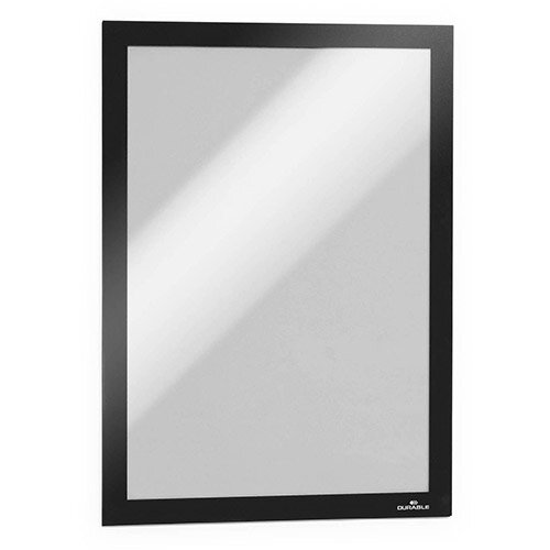Durable Duraframe A4 Self Adhesive with Magnetic Frame Black Ref 488201 Pack of 10