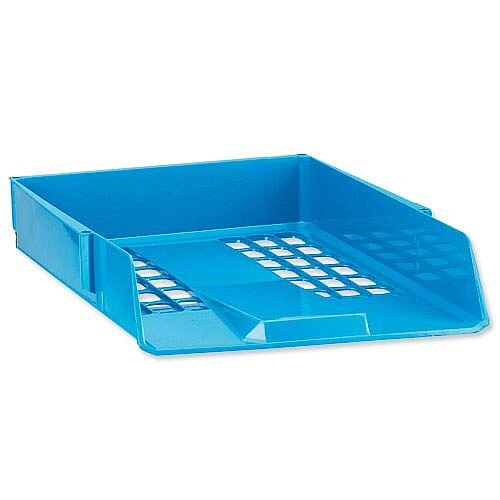 Avery Basics Blue Letter Tray Stackable A4 Foolscap Ref 1132BLUE