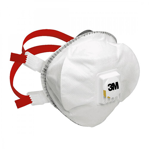 3M Valved Particulate Respirators FFP3 Classification White Pack of 5 Ref 8835PLUS