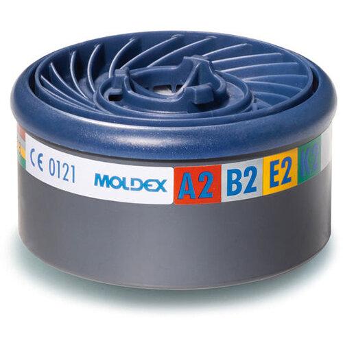 Moldex ABEK2 7000/9000 Particulate Filter EasyLock System Blue Ref M9800 Pack of 4