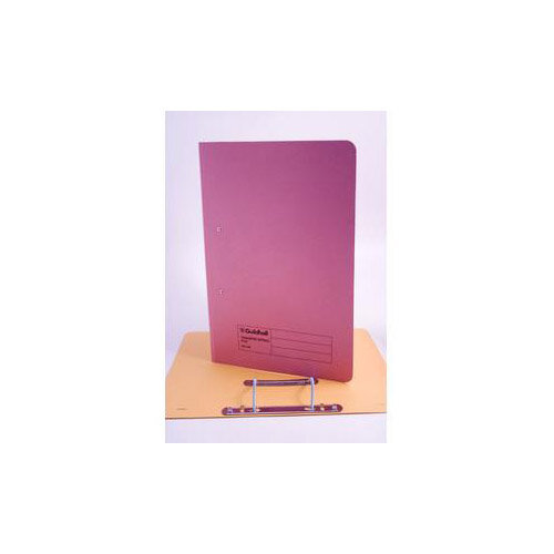 Guildhall Foolscap 420g/m2 35mm Spine Super Heavyweight Manilla Spiral File Pink