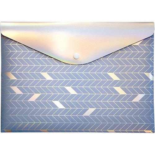 Pukka GLEE Document Wallet Popper PP W323xD36xH237mm Light Blu Ref 8703 GLE LE Pack of 12