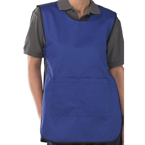 Click Workwear Tabbard PolyCotton Side Fastening Small Royal Blue Ref PCTABRS
