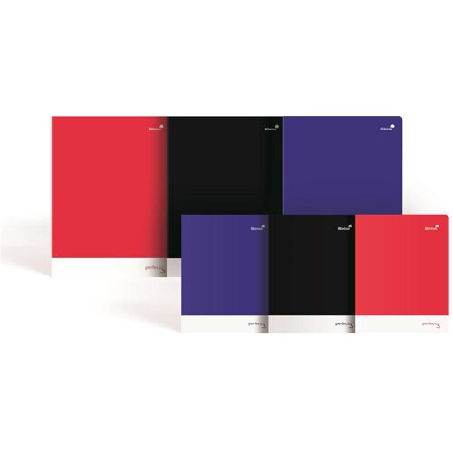 Silvine A4 Notebook Soft Velvet Cover Perforated 75gsm 160pp Assorted Pack of 6