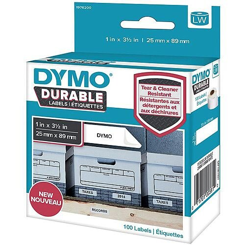 Dymo 25mm-89mm Durable 1 x Pack 100 Labels