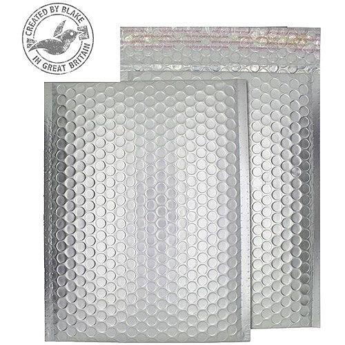 Purely Packaging Bubble Envelope P& C5+ Matt Metallic Chrome Ref MTA250 [Pk 100]