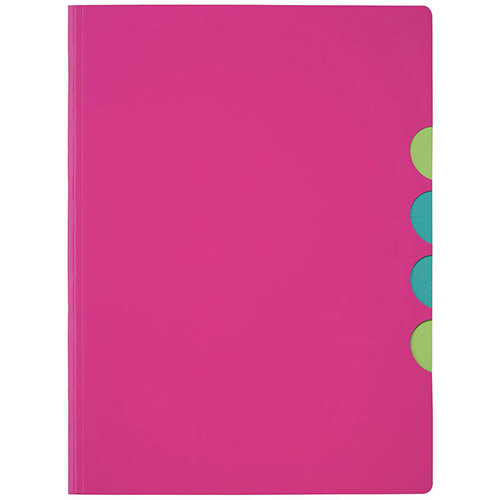 Panga Millenials A4 Part File Dark Pink Pack of 5