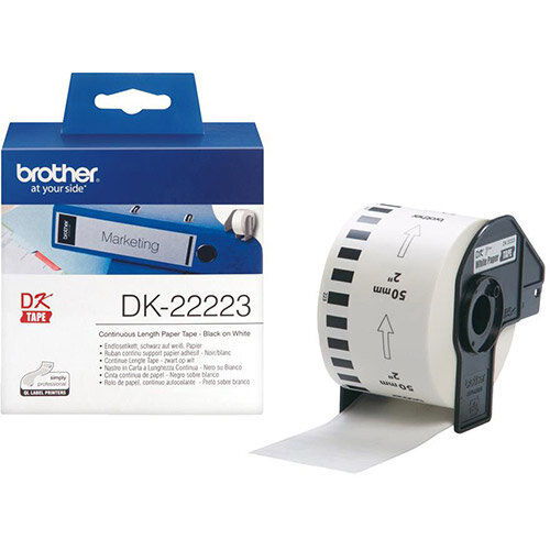 Brother DK Labels DK-22223-1 50mm x 30.48m Continuous Paper Tape