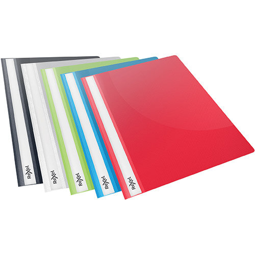 Rexel Choices Report Folder Clear Front Capacity 160 Sheets A4 Astd Ref 2115641 Pack of 25