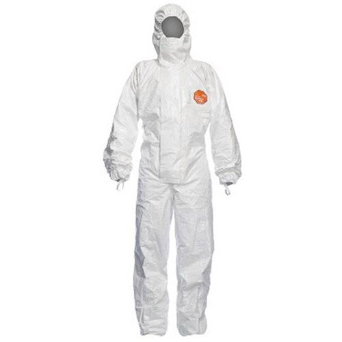 DuPont Tychem 4000 S CHZ5 XXX Large Hooded Coverall White