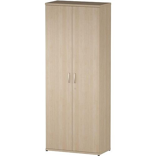 Tall Cupboard With 4 Shelves (5 Shelving Compartments) H2000xD400xW800mm Maple