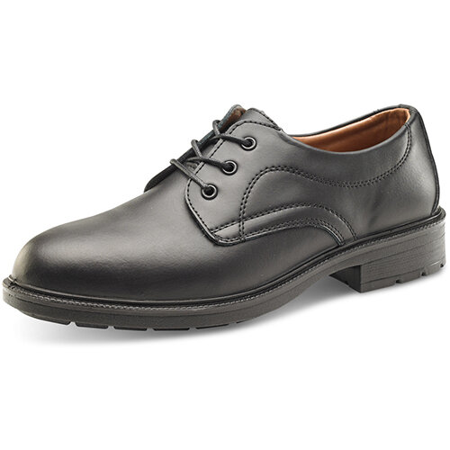 Click Footwear Managers Shoes S1 Leather Upper &Steel Toecap Size 10 (44) Black Ref SW201010