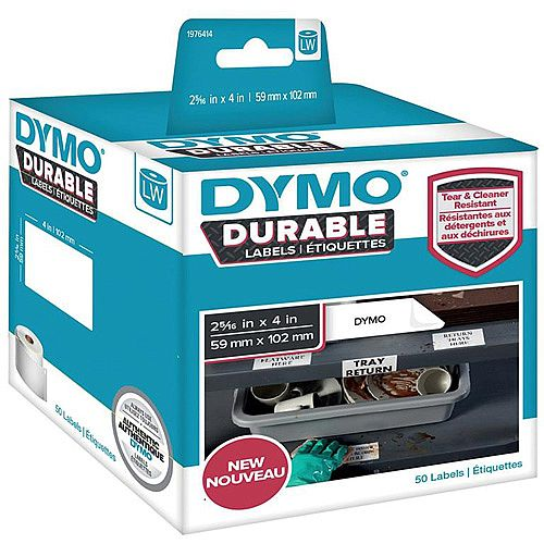 Dymo 59mmx102mm Durable Labels 1 x Pack of 50 Labels