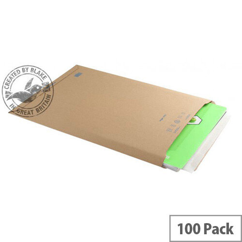 Blake Purely Packaging 353x250mm Peel and Seal Pocket Envelopes Kraft Pack of 100