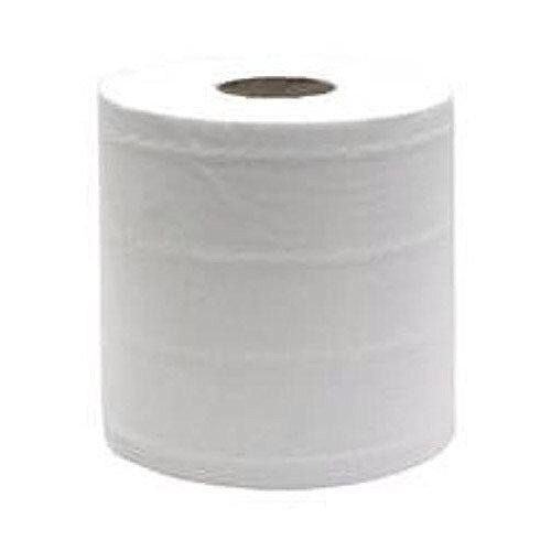 Maxima Centrefeed Toilet Dispenser Refill Tissue Rolls 2-Ply 150m White Pack of 6