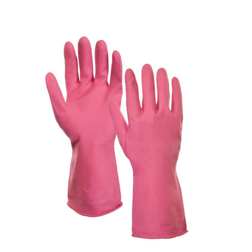 Supertouch Rubber Gloves Medium Household Latex Gloves Pink