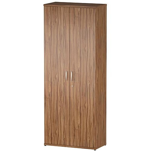 Tall Cupboard With 4 Shelves (5 Shelving Compartments) H2000xD400xW800mm Walnut