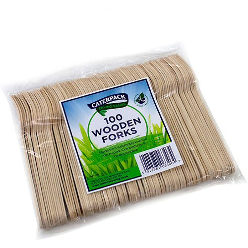 Robinson Young Natural birchwood Forks Ref 10568 Pack of 100