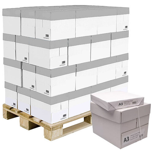 WhiteBox Paper A3 White Pallet [100 x 500 Sheets]