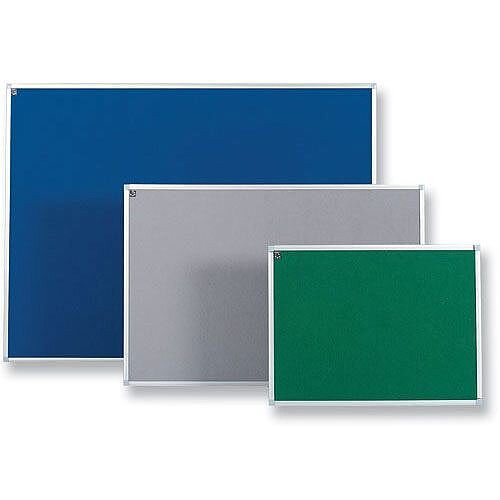 Blue Notice Board 900 x 600mm with Fixings and Aluminium Trim 5 Star