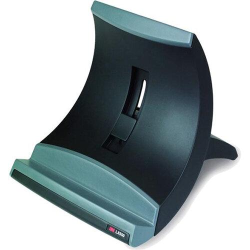 3M LX550 Adjustable Riser &Stand for Laptop &Notebook Black &Silver Ref 856975