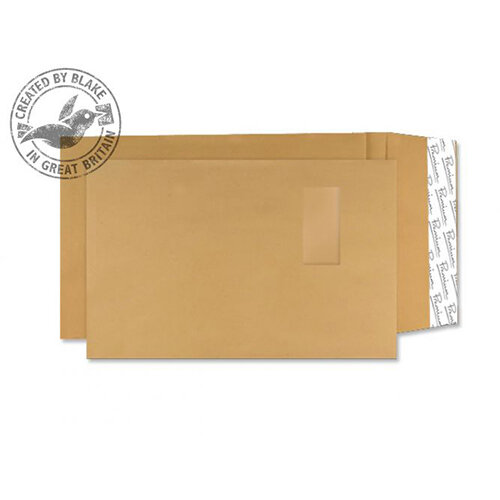 Blake Premium Avant Garde C4 140g/m2 Peel and Seal Window Pocket Envelopes Cream Manilla Pack of 100 Ref 4030989
