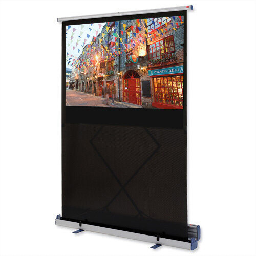 Nobo W1600xH1000 Projection Screen Floor Standing Portable Widescreen 16:10 Format 1902551