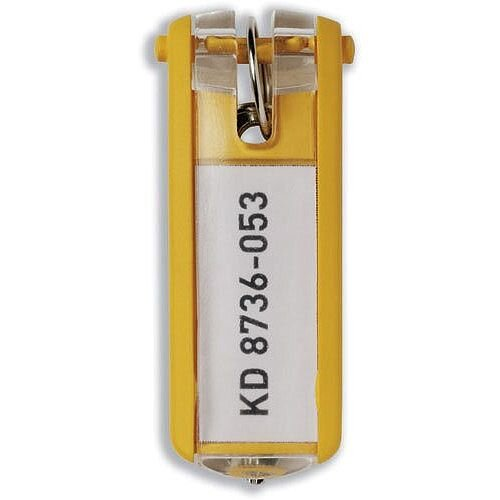 Durable Key Clip Yellow Pack of 6