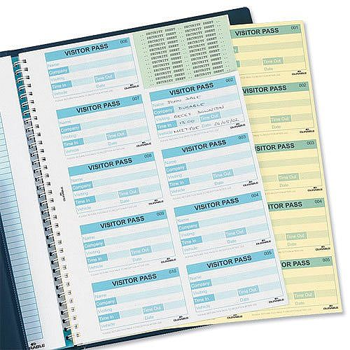 Durable Visitors Book Refill of 100 W90xH60mm Badge Inserts 1464-00