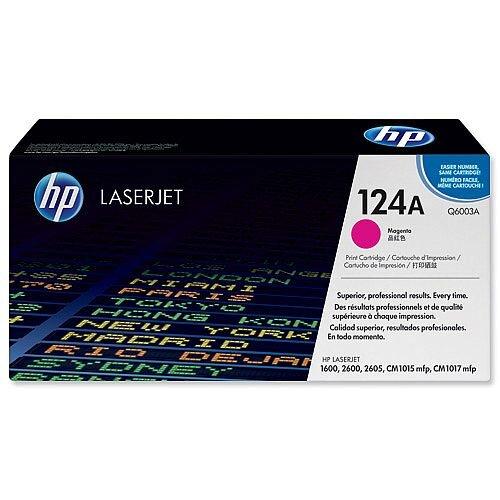 HP 124A Magenta LaserJet Toner Cartridge Q6003A