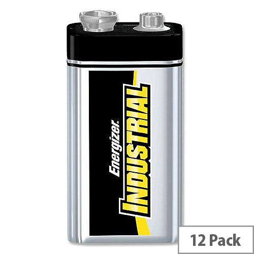 Energizer Industrial 9V Battery 6LR61 Pack 12