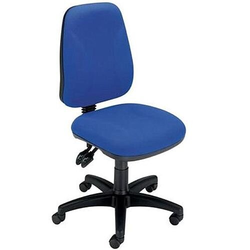 Permanent Contact High Back Task Operators Office Chair Blue Trexus Intro