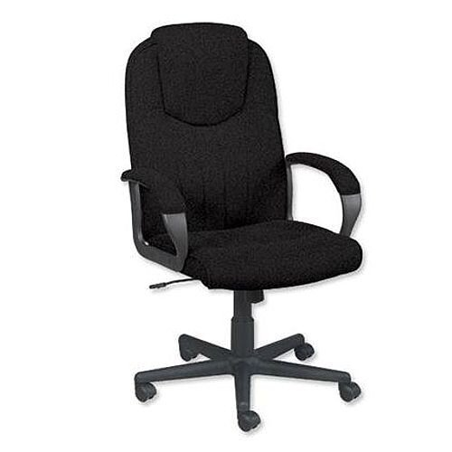 Trexus Intro Managers Office Armchair High Back Charcoal