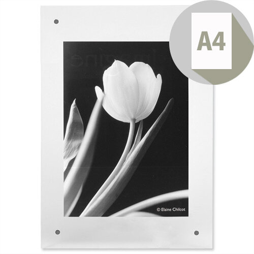 3D Effect Wall Picture Frame Magnet Closure Fixings A4 Clear Photo Album Company, Wall Fixing Kit Template, Quick &Easy Change of Content
