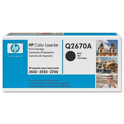 HP 308A Black LaserJet Toner Cartridge Q2670A