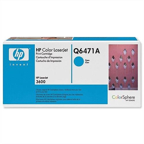HP 502A Cyan LaserJet Toner Cartridge Q6471A