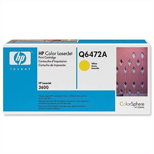 HP 502A Yellow LaserJet Toner Cartridge Q6472A