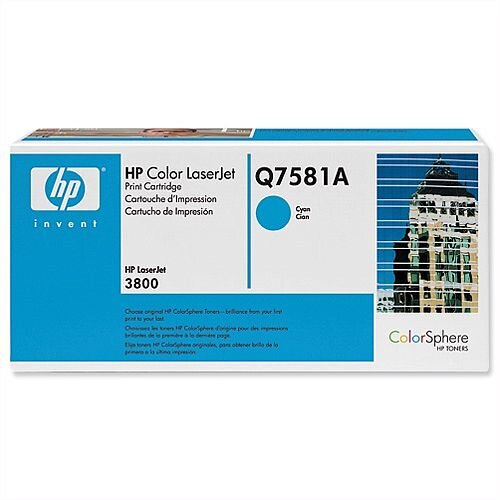 HP 503A Cyan LaserJet Toner Cartridge Q7581A