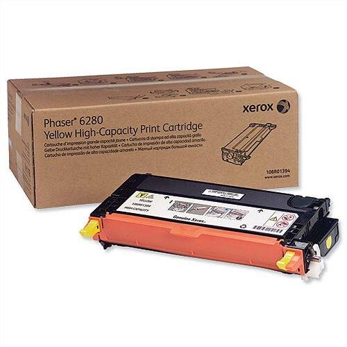 Xerox Laser Toner Cartridge High Yield Page Life 5900 Yellow Ref 106R01394