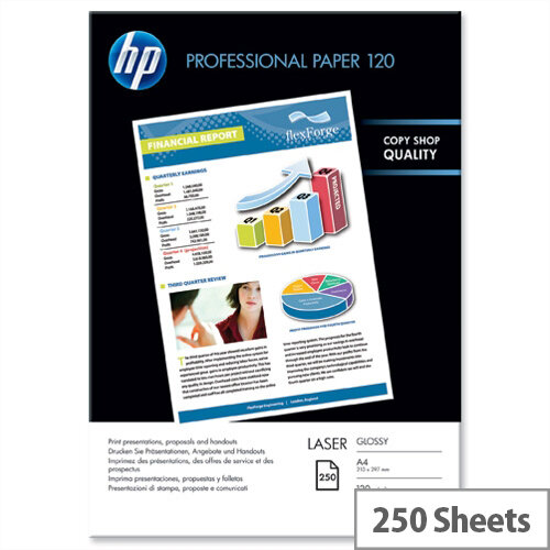 HP A4 Professional Laser Glossy Photo Paper 120gsm (Pack of 250)