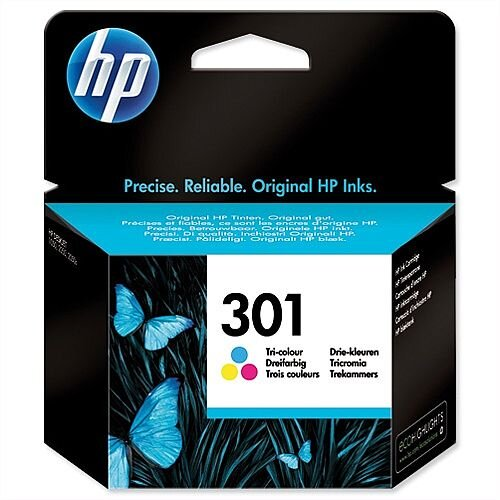 HP 301 Tri Colour Ink Cartridge CH562EE