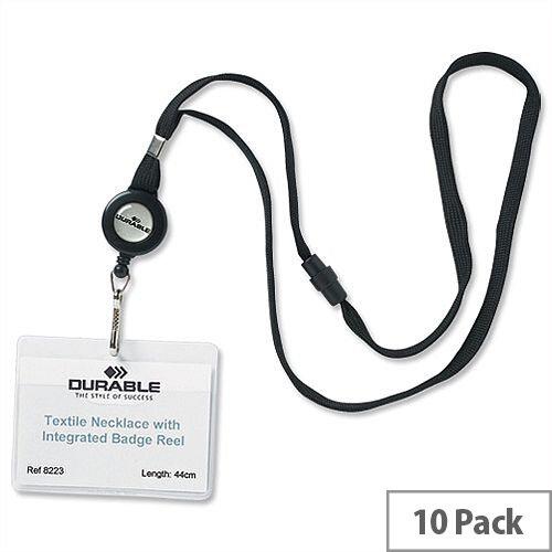 Durable Lanyard Reel for Name Badges Pack 10