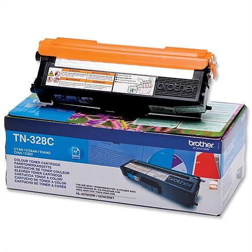Brother TN328C Cyan Super High Yield Laser Toner Cartridge
