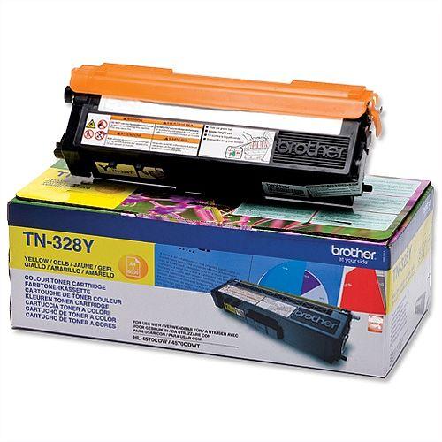 Brother TN328Y Yellow Super High Yield Laser Toner Cartridge