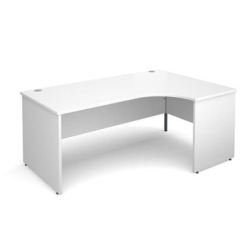 Maestro 25 PL right hand ergonomic desk 1800mm - white panel leg design
