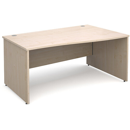 Maestro 25 PL right hand wave desk 1600mm - maple panel leg design